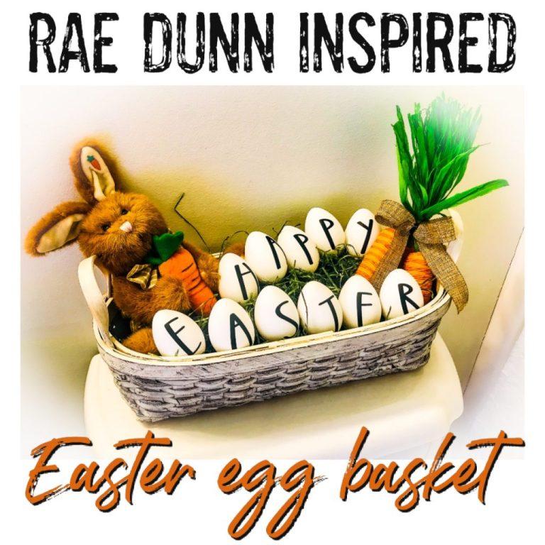 rae dunn inspired easter egg basket