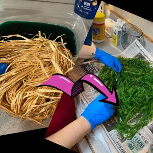 Colored Raffia : How to Dye Your Own
