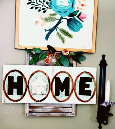 everyday decor ideas | home sign | home decor ideas | Hilde krahn | simple abundance