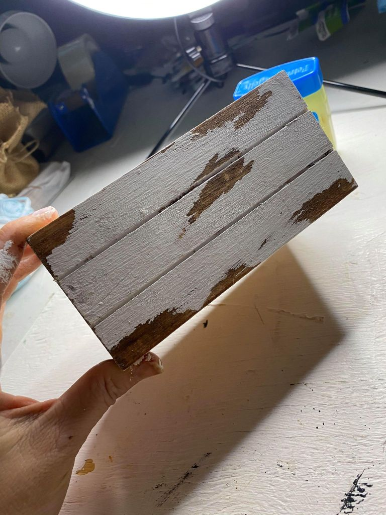 removing paint from crate using the chip paint method