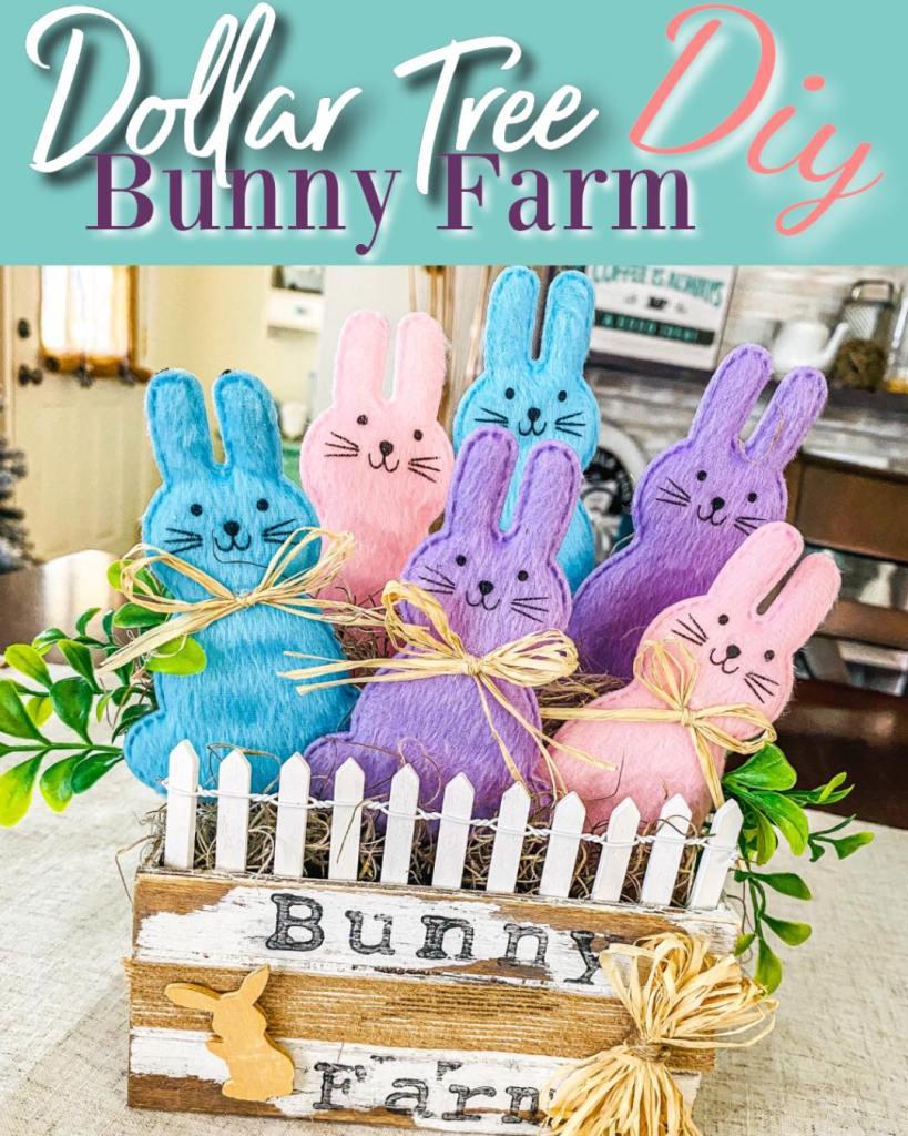 bunny farm diy #dollartreebunnydiy