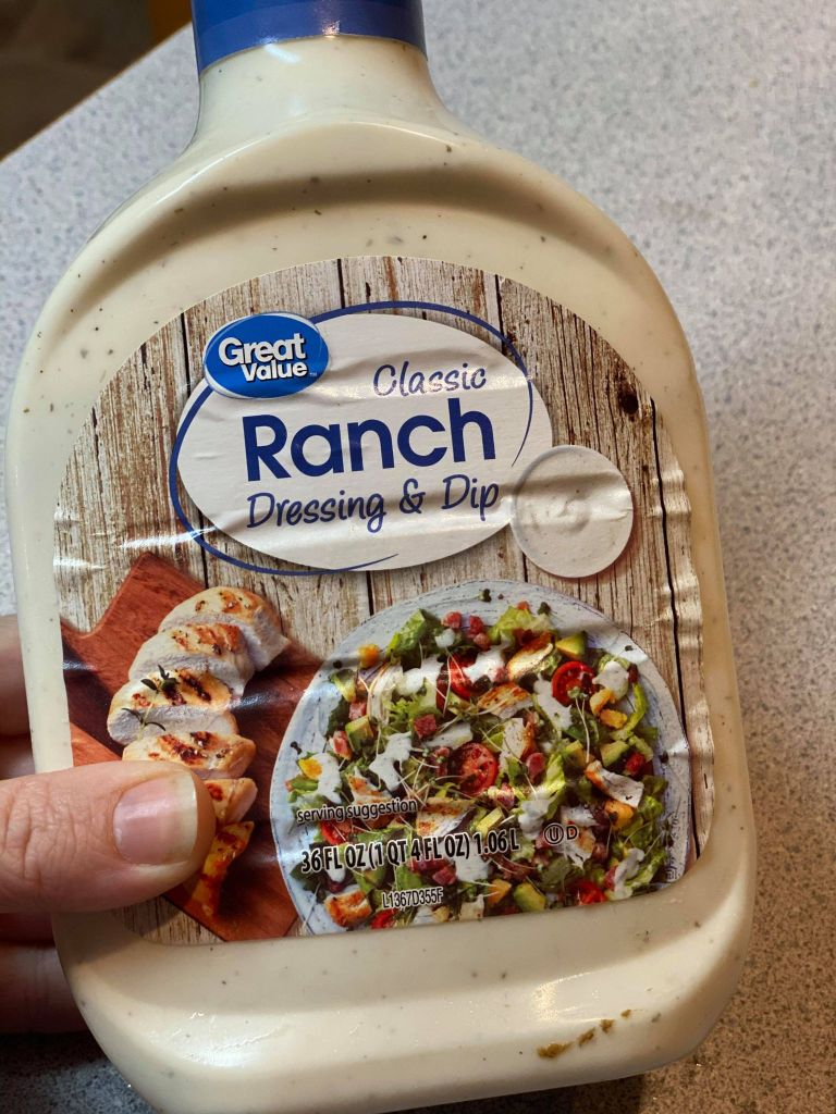 Great value ranch dressing added to my chicken noodle soup recipe