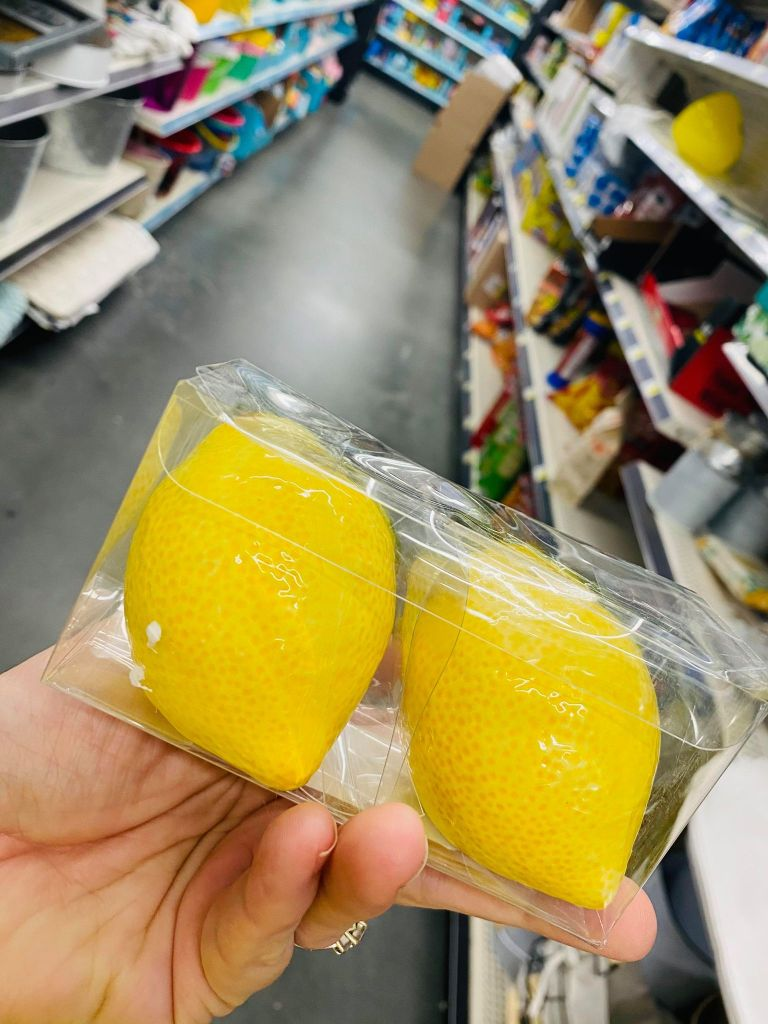 lemon salt and pepper shakers | #dollargenerallemondecor