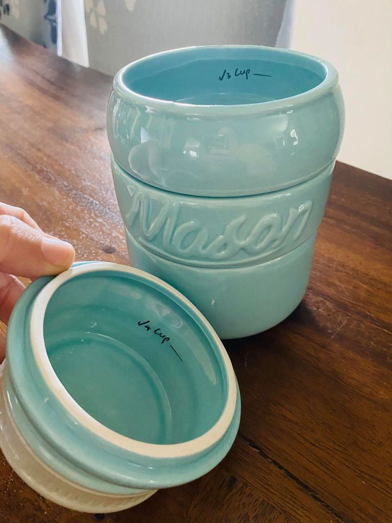 mason jar measuring cups | Dollar General kitchen decor | #Masonjarmeasuringcups | #Dollargeneraldecor