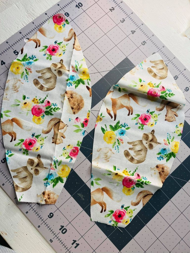 bunny ears cut out of fabric