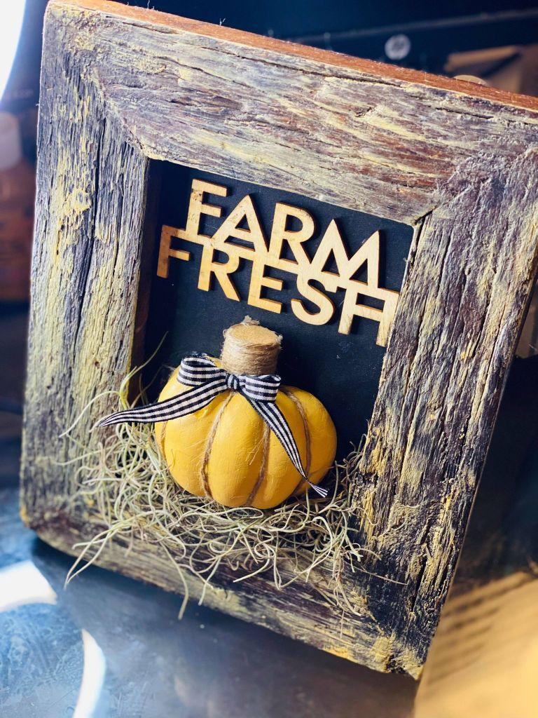 farm fresh pumpkin frame