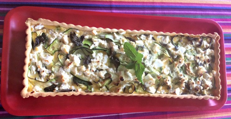 Zucchini,Feta and Mint Tart