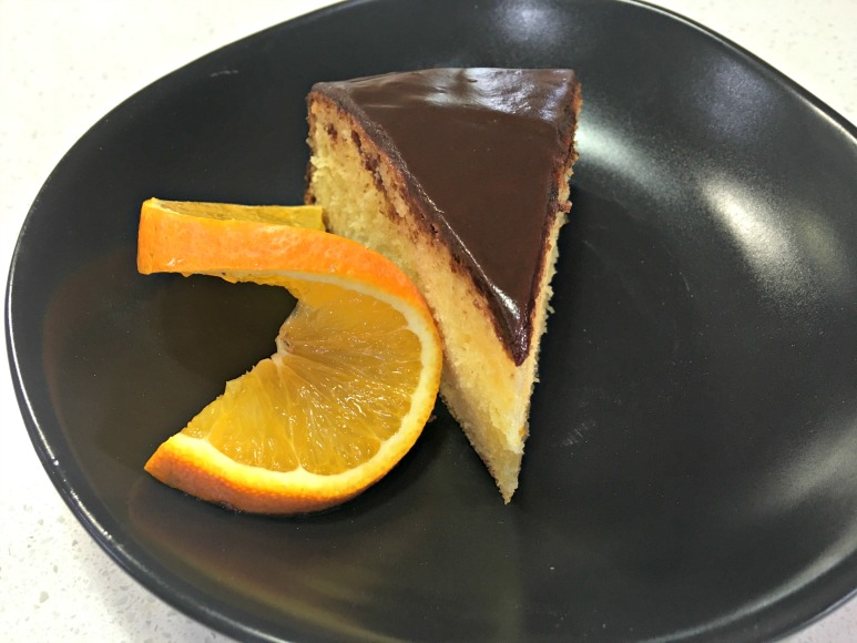 Orange Syrup Cake with Chocolate Ganache