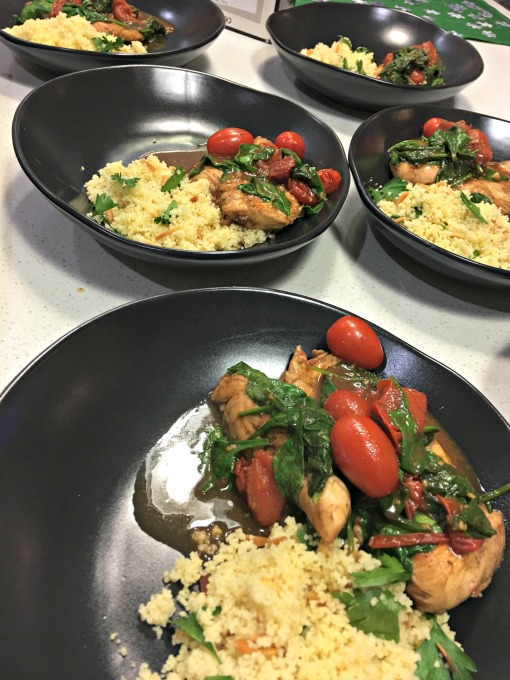 Balsamic Chicken with Cherry Tomatoes and Spinach