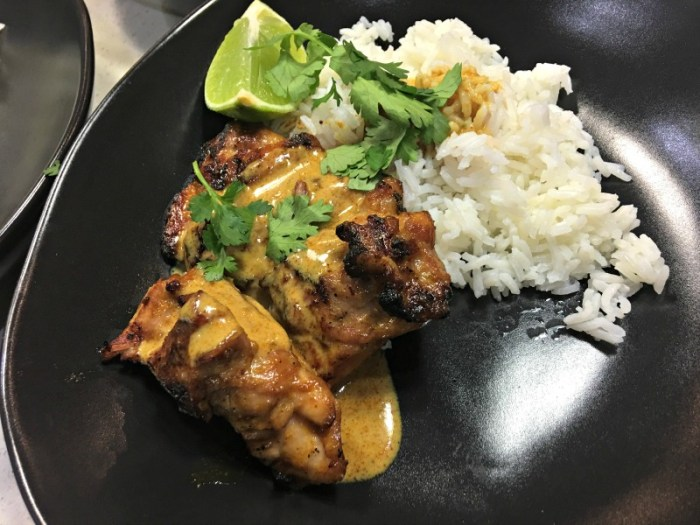 Grilled Coconut Curry Chicken