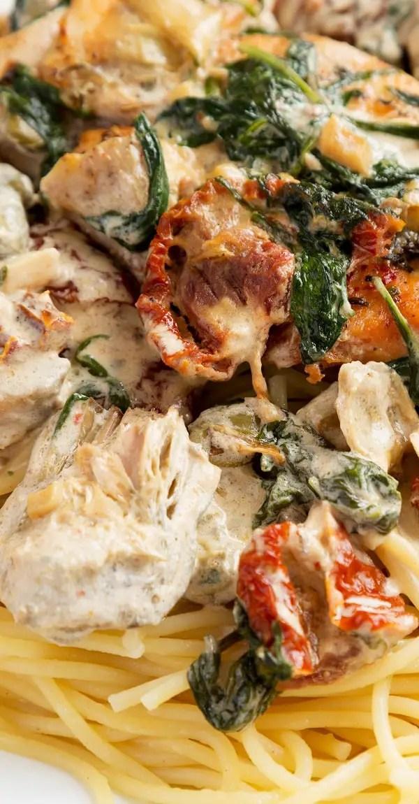 Instant Pot Keto Tuscan Chicken Recipe | MY EDIBLE FOOD