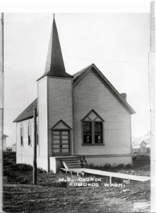 Edmonds Methodist Episcopal Church, circa 1909.