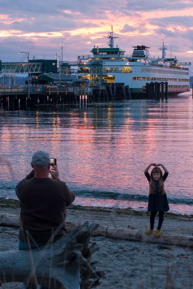 From Michael Bury, taken at the beach next to the Edmonds Ferry Terminal around 7:15 p.m. Tuesday.