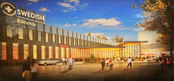 Artist's rendition of the new emergency and urgent care wing.