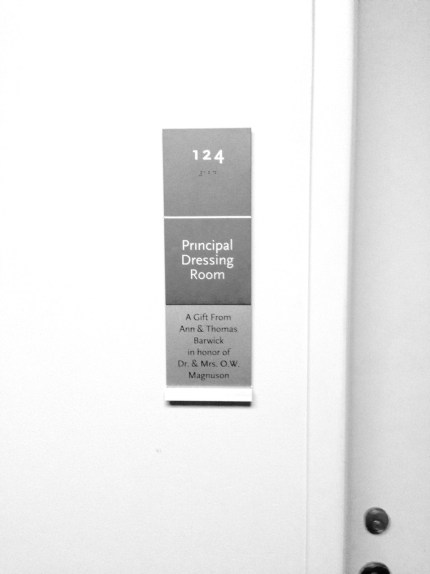 Door to Principal Dressing