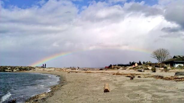 Paige Heggie took this photo of a rainbow along the Edmonds waterfront last weekend.