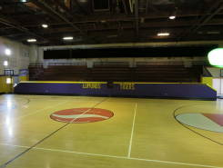 The ECA gym floor is made from the soles of recycled tennis shoes.
