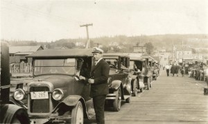 Edmonds Ferry line,1927 (Photo courtesy of South Snohomish County Historical Society)