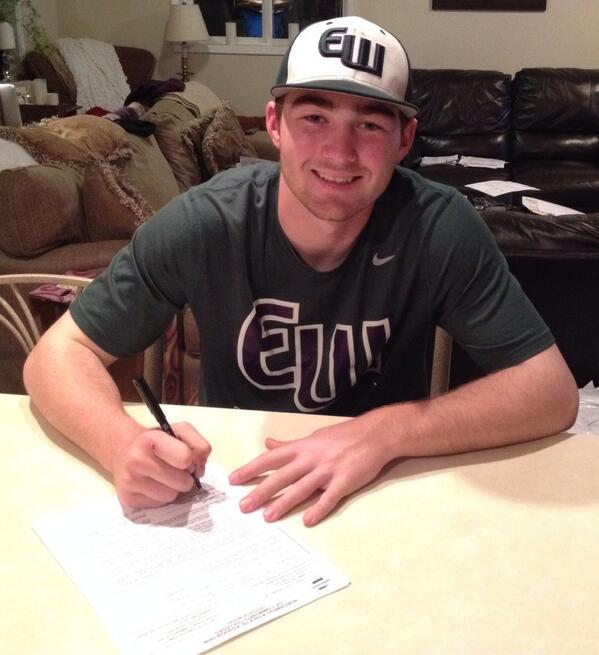 "Congratulations to Edmonds-Woodway High School senior Tate Budnick, who signed his letter of intent Tuesday to play baseball at Everett Community College. Says Everett CC Assistant Coach Cody Atkinson: ""Tate is the program changer, the one that has been at the top of our list since last summer. Huge for us!"""