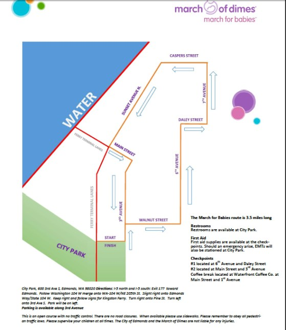 march of dimes walk map