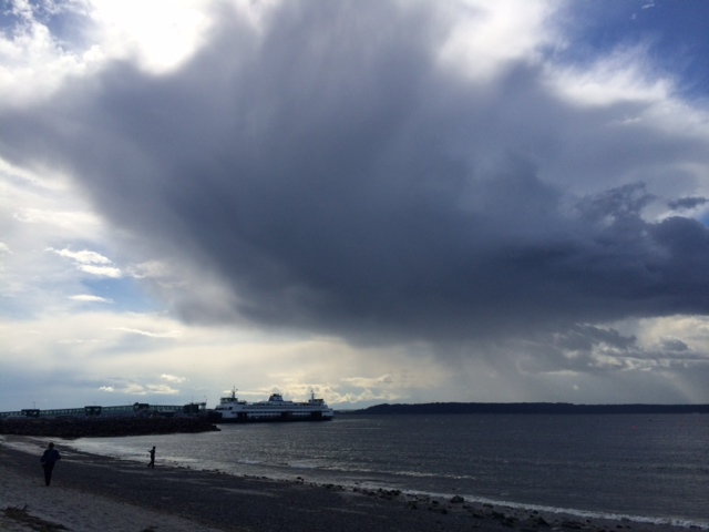 From Julie Van Tosh, storm clouds gather on the Edmonds waterfront near Brackett's Landing Sunday.