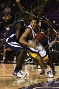 Jason Hopkins during his playing days at Lipscomb University.