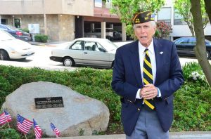 """Fred Apgar, commander of VFW Post 8870, summed up the deeper meaning of the memorial: """"They gave up their tomorrows so we might have today."""""""