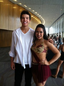 Casey and partner Samantha Cantoria at a dance competition in 2013. (Photo courtesy of Lisa Askew)