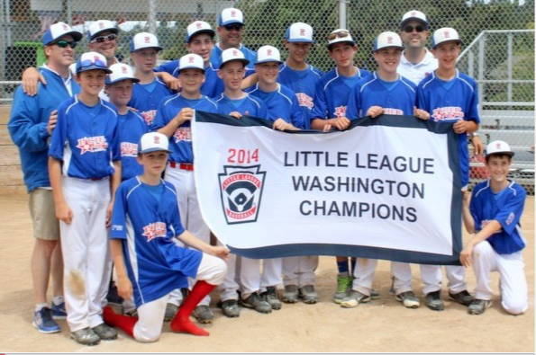 Pacific Little League after winning the state championship July 19, 2014.