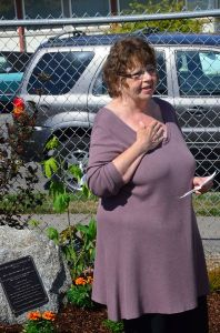 "Judy Guitton, Chris's wife of 34 years, spoke briefly at the dedication. ""This is lovely spot, and a lovely way to remember Chris,"" she said. ""He loved the sport of Petanque, and I'm sure he'll be watching as you play."""