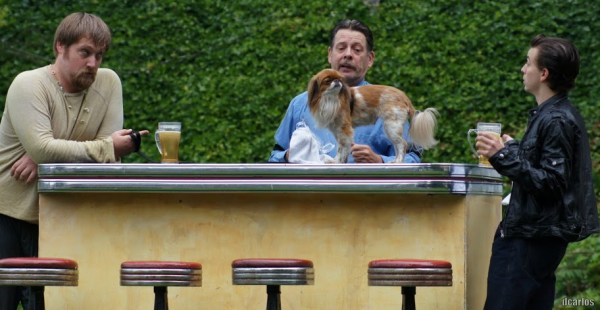 Bartender Launce, his dog Crab, and Valetine's protege, Speed provide comic relief.