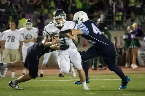 Edmonds Woodway running back Nick Venema with the ball.