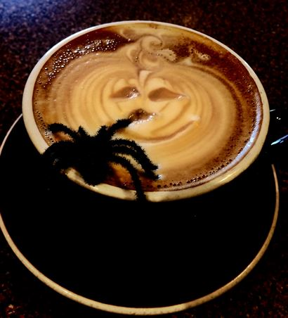 Waterfront Coffee Company' offers a cup o' Halloween.