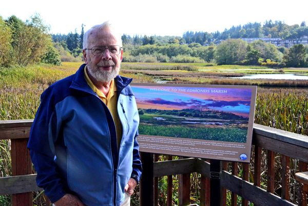 Cooke used the Edmonds Marsh as his outdoor classroom for generations of students in the 1970s and 1980s.  His students went beyond learning about the science of the marsh, and became advocates for mitigating the damage caused by years of filling and development.