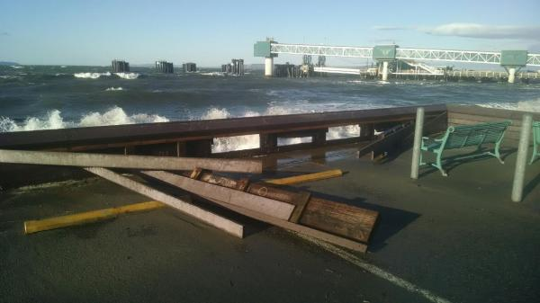 From Edmonds Public Works Director Phil Williams, the damaged bulkhead at the Edmonds Senior Center.