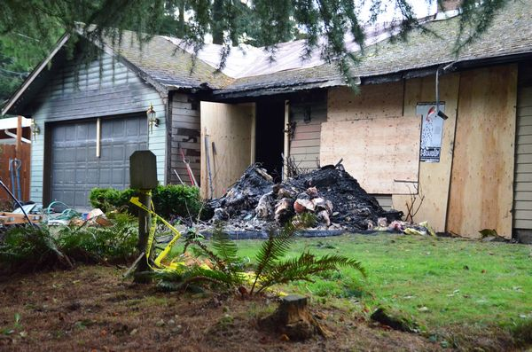 Morgan's home at 6219 193rd St. S.W. was heavily damaged by fire on Sunday evening. First responders found Welch bleeding and unconscious in the garage with a skull fracture and second and third degree burns, and smelling of gasoline.