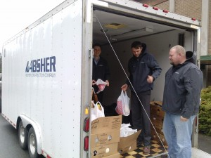 Volunteers delivering  meals to families in need. (Photo courtesy of