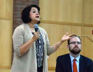 "Rep. Lillian Ortiz-Self has dedicated her life to education, and this passion continues in the state legislature. She stresses the importance of a ""cradle to career"" approach, that includes raises for teachers and re-evaluating testing as a graduation requirement. ""Students need more education, not more testing,"" she said."