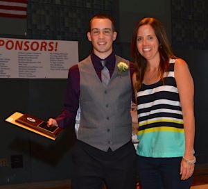 Marc Campagnaro with Edmonds-Woodway athletic director Angie McGuire.