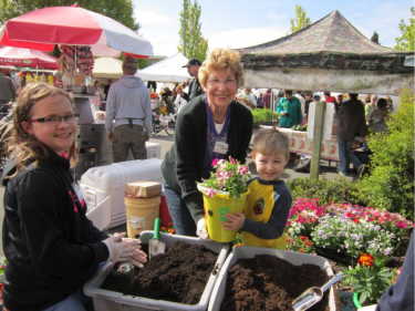 Planting for mom at a past Edmonds in Bloom event.