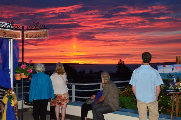 A classic Edmonds sunset provided the fitting end to an evening of festivities.