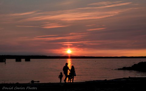 From David Carlos, a family enjoying Sunday's sunset in Edmonds.
