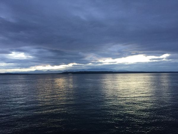 From Leigh Hennig, Friday's sunset at the Edmonds Fishing Pier.