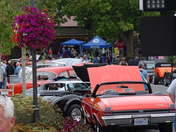 Avril VanderMerwe shared this photo of the Edmonds Classic Car Show going on Sunday in downtown Edmonds.