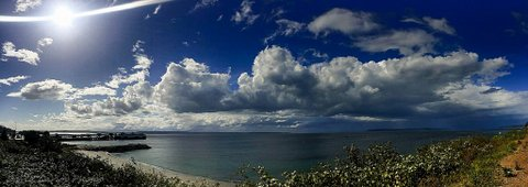 From David Carlos, taken before the rain came Wednesday.