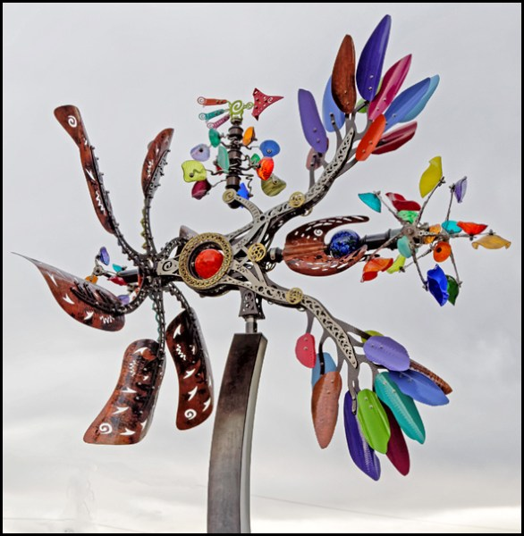 From LeRoy VanHee, who captured the kinetic sculpture by Andrew Carson at 4th and Dayton.