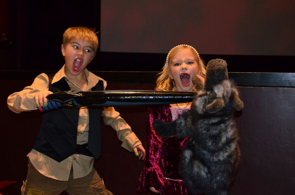 "Cooper Beyer protects his sister Lucy from a vicious ROUS (rodent of unusual size), which fans of the movie will recognize as a denizen of the Fire Swamp. In town from Yakima to celebrate the holidays with family, Cooper and Lucy are huge Princess Bride fans. ""We own the film!"" Cooper exclaimed."