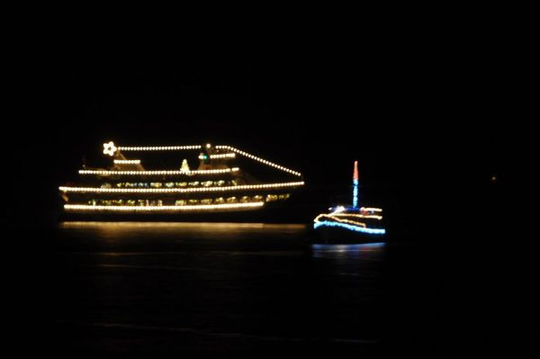 From Tom Dockins, the Argosy Christmas Ship at the Edmonds Fishing Pier Tuesday night.