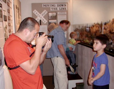 Adults and children alike crowded into the newly opened Edmonds Museum train exhibit in 2011. (My Edmonds News file photo)