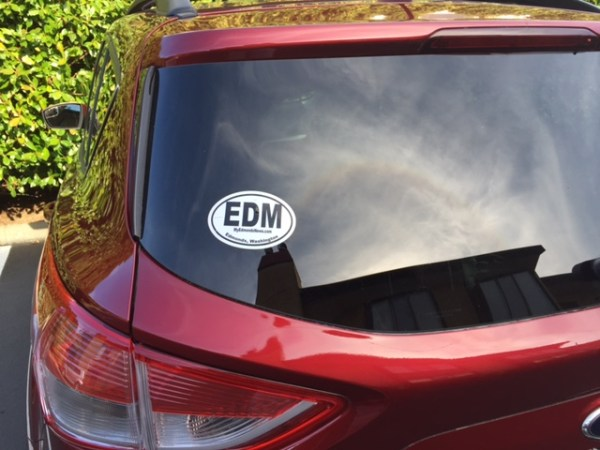 More and more EDM car stickers are popping up around town. They are available to My Edmonds News subscribers, so subscribe here today and we'll put one in the mail to you. Existing subscriber? Just email us with your mailing address and we'll do the rest.